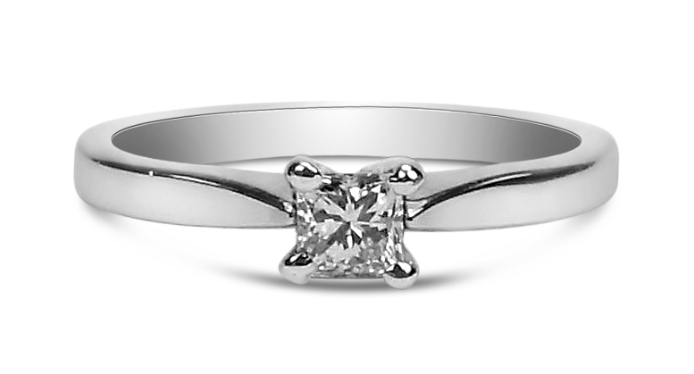 Doris Platinum And Princess Cut Diamond Ring 0 24ct E