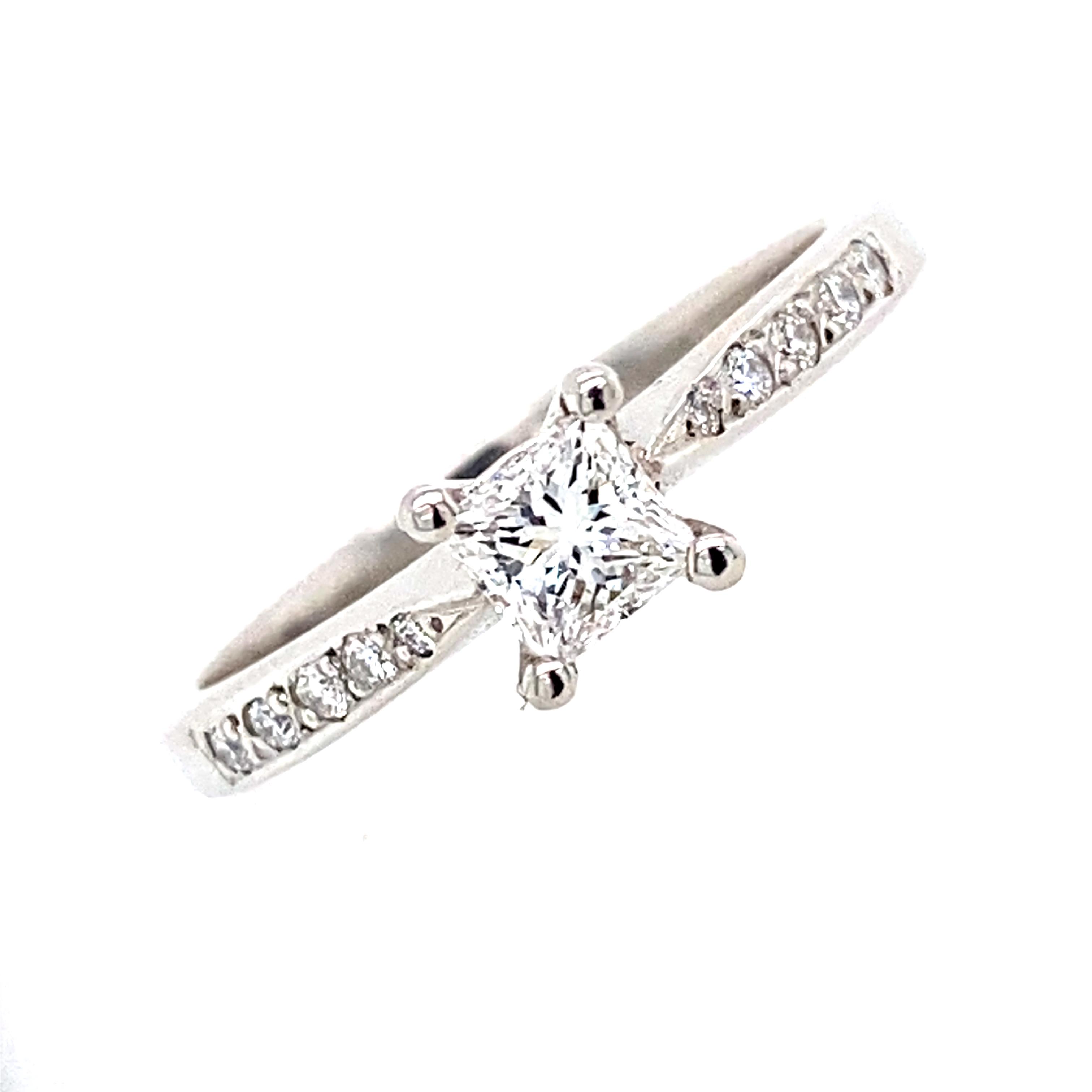 Doris Platinum Princess Cut Diamond Ring 0 31ct E Vs1