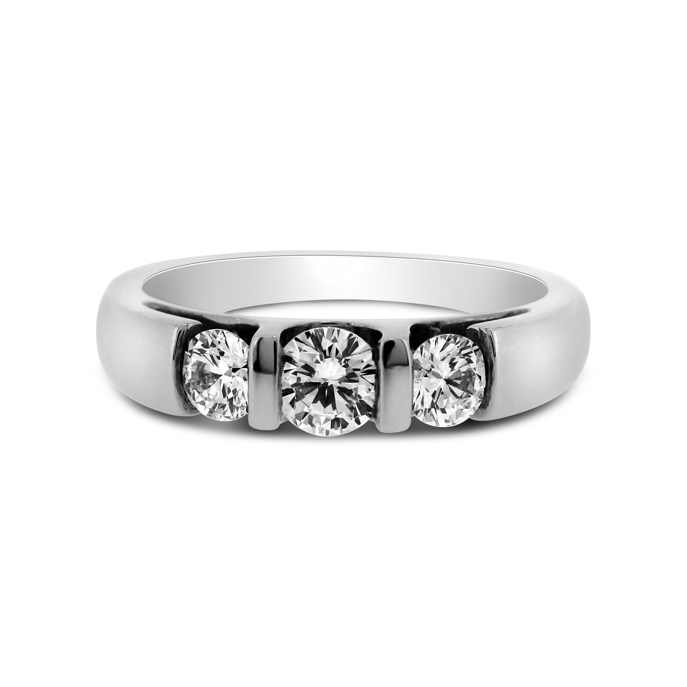 Illusion Set Round Brilliant Diamond And Platinum Ring 0