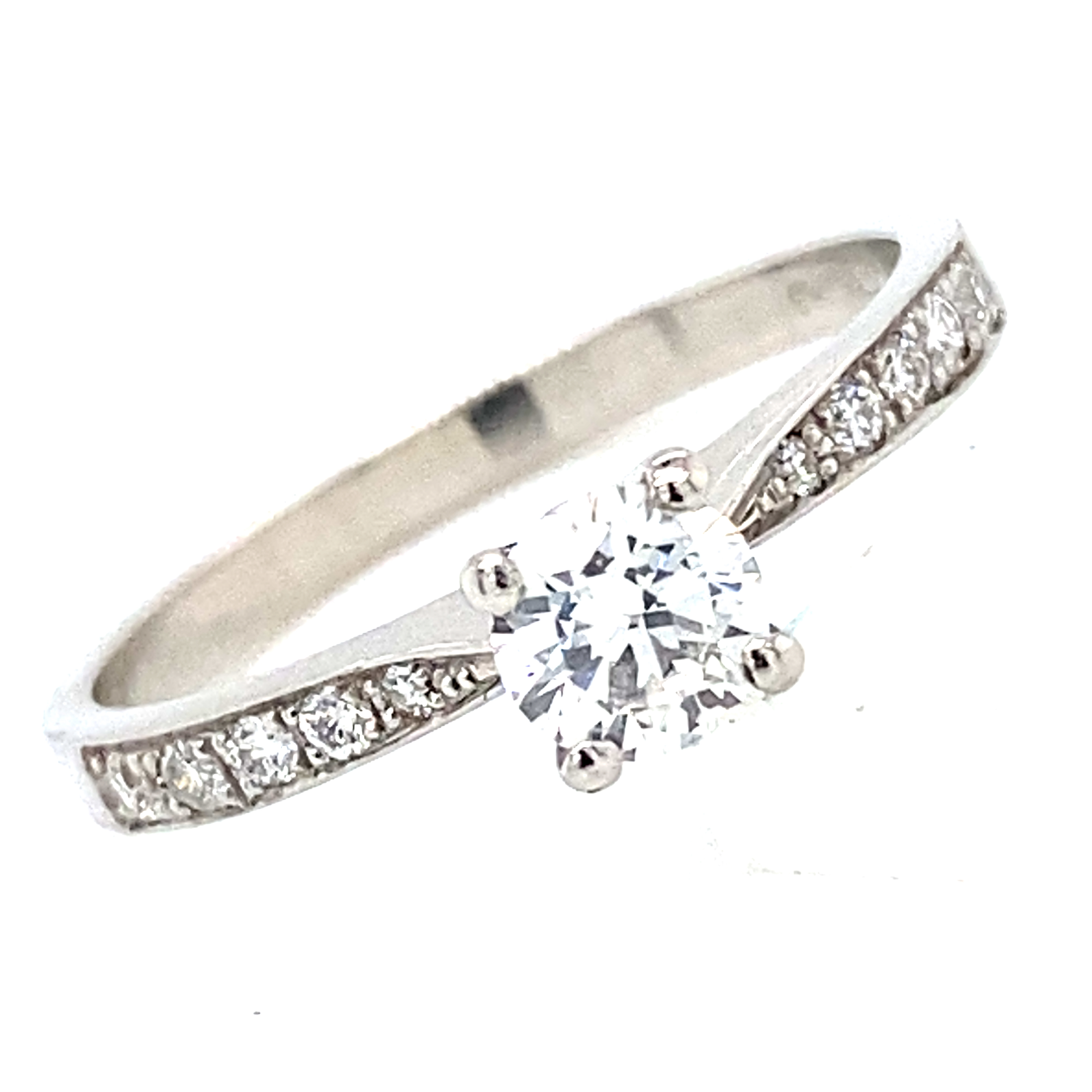 Doris -Platinum and Round Brilliant Cut Diamond Ring 0.35ct ESI1