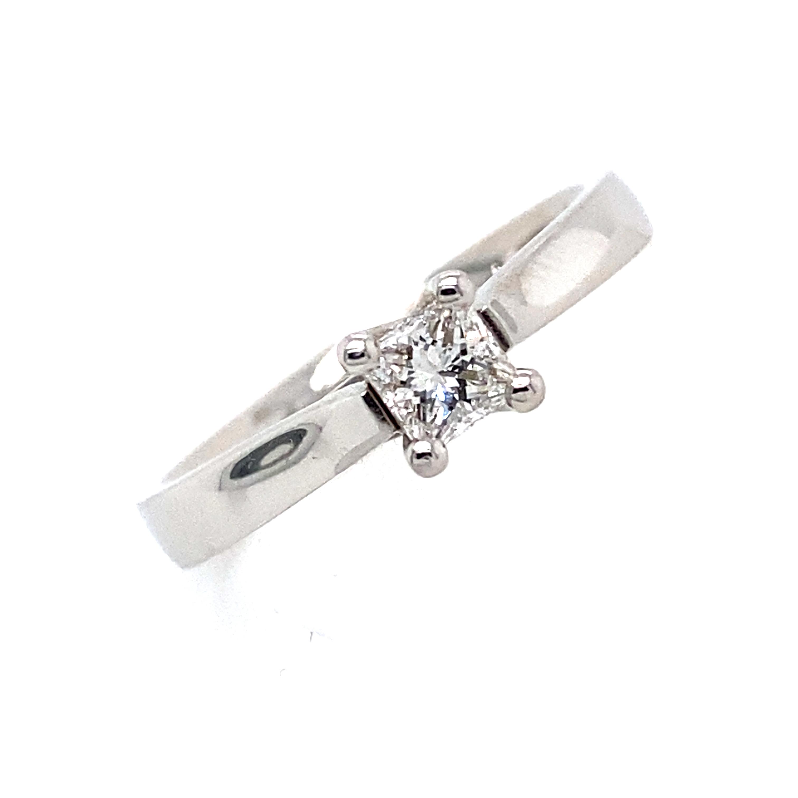 Lillian - Platinum Princess Diamond Engagement Ring 0.28ct E SI1