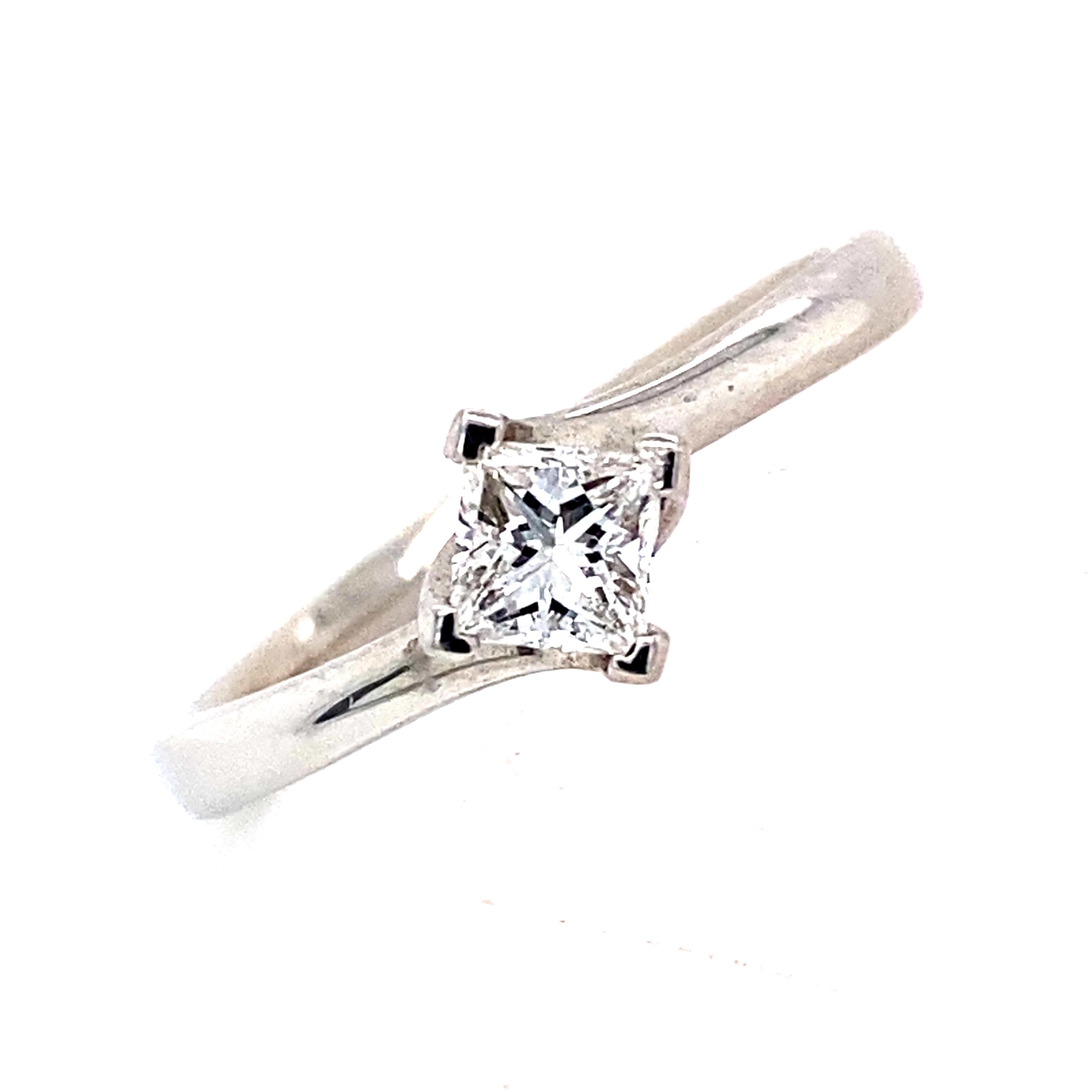 Ivy - Platinum and Princess Cut Diamond Ring 0.33ct EVS1
