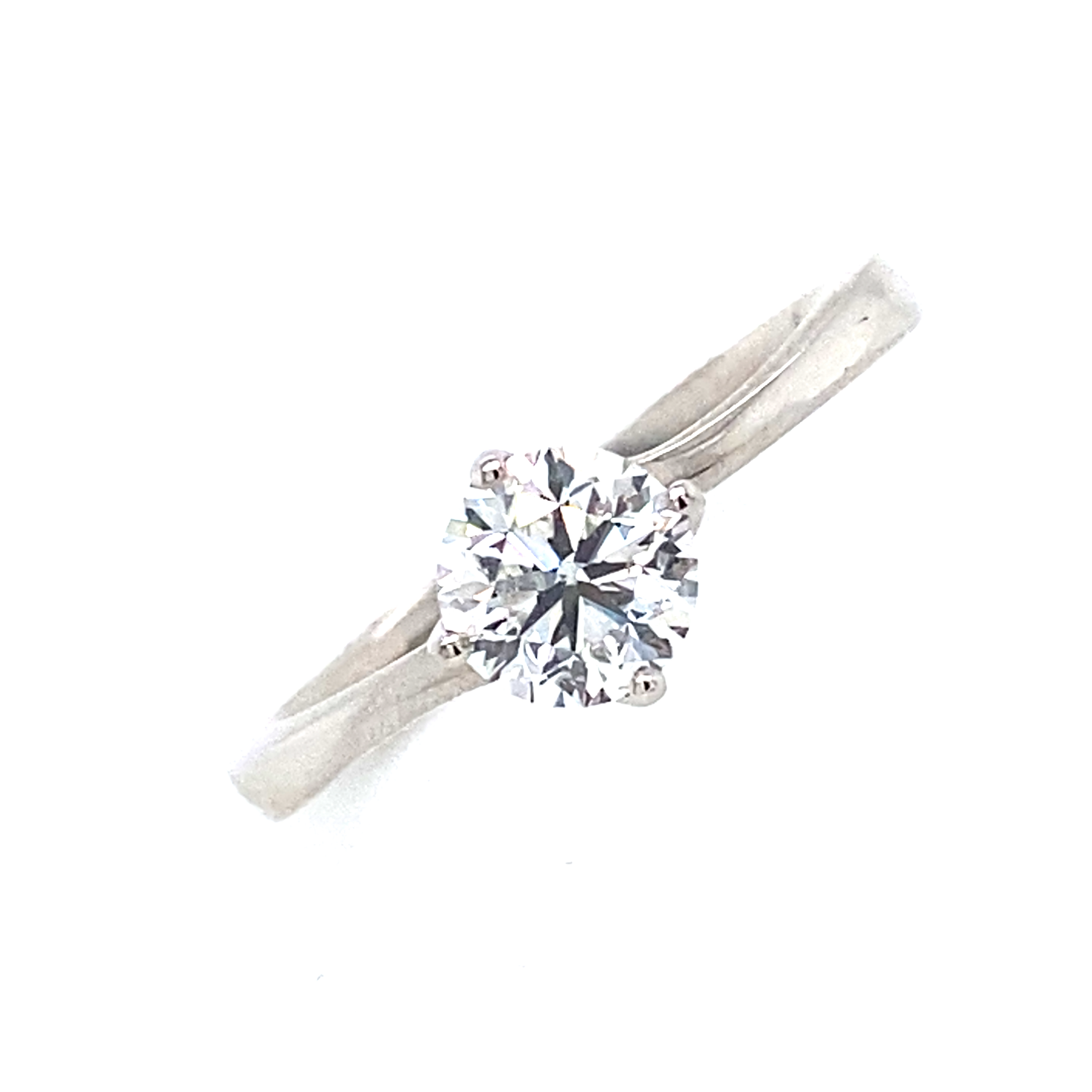 Platinum and Diamond Engagement Ring - Ivy Collection 0.80 F Si2