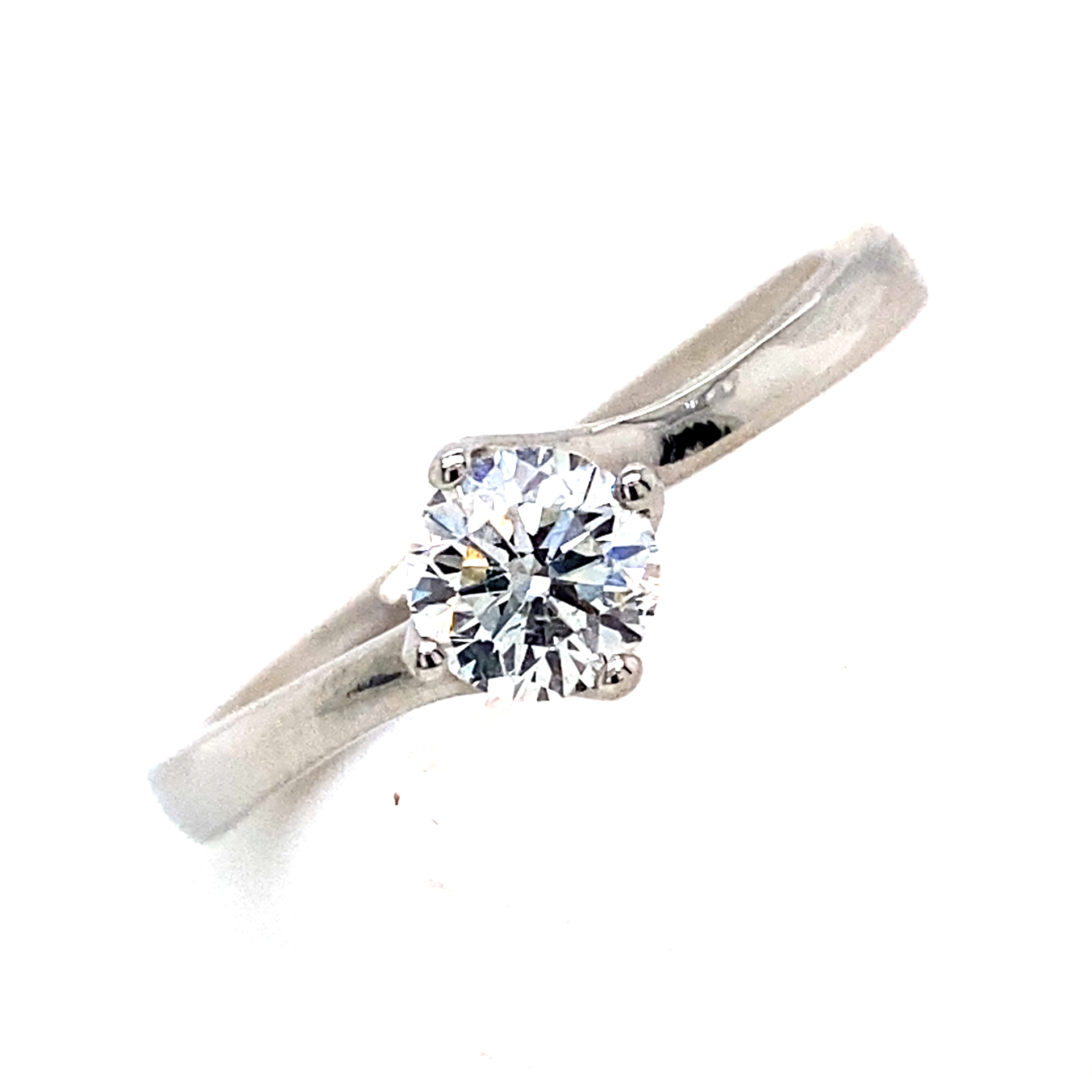 Platinum and Diamond Engagement Ring - 0.50cts