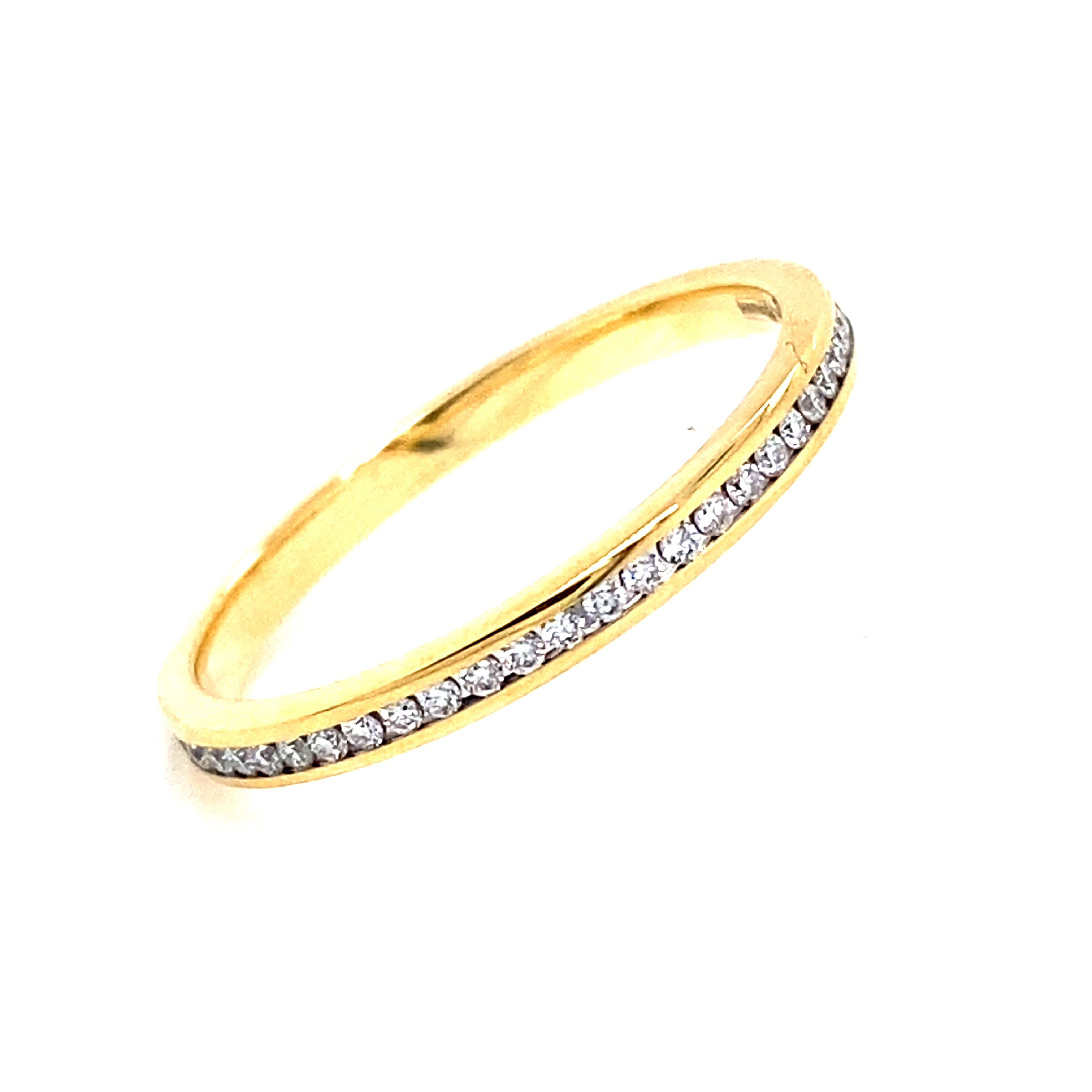 18 Carat Yellow Gold Channel Set Full Eternity Ring- 0.27ct