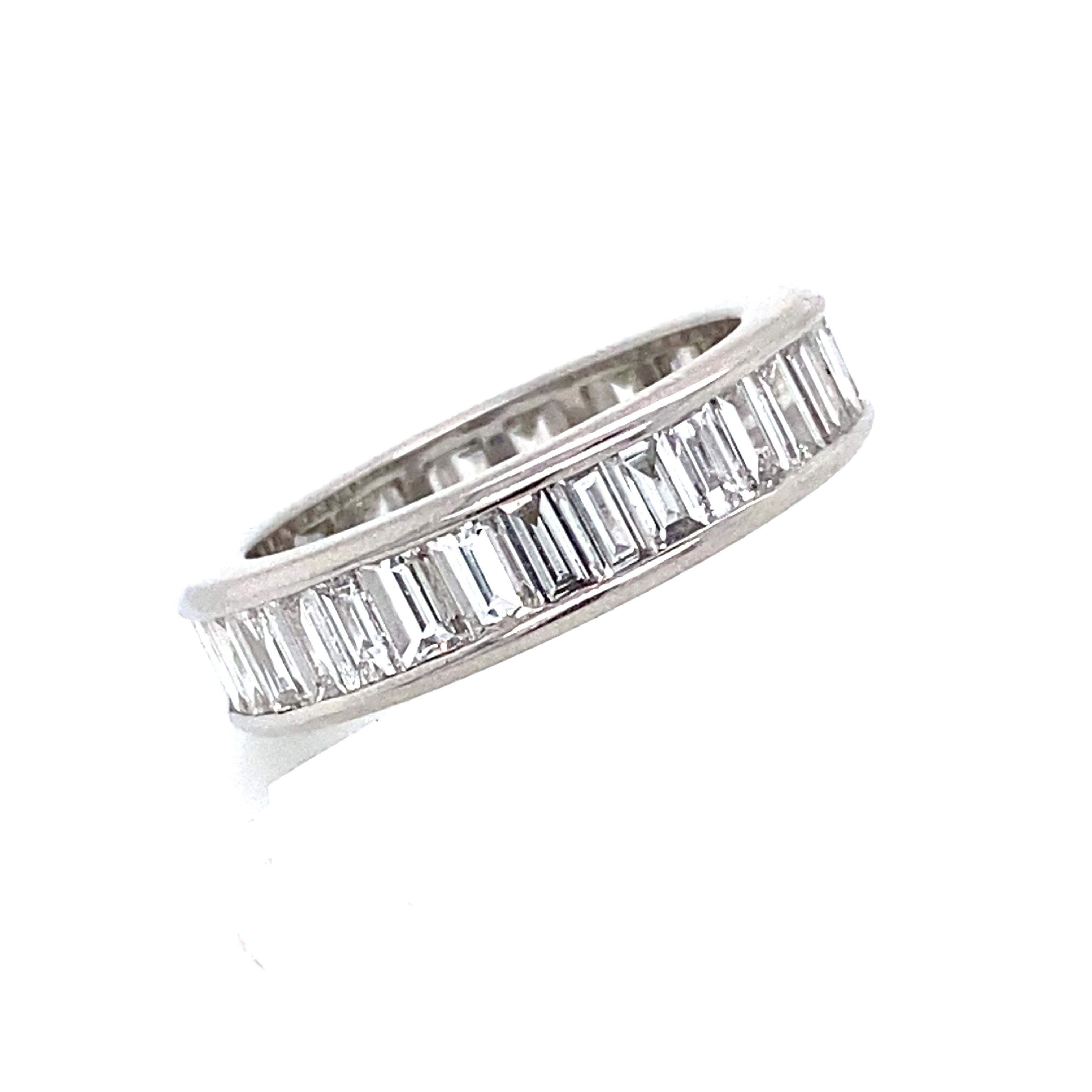 Channel Set Baguette Cut Diamonds - 3.27cts