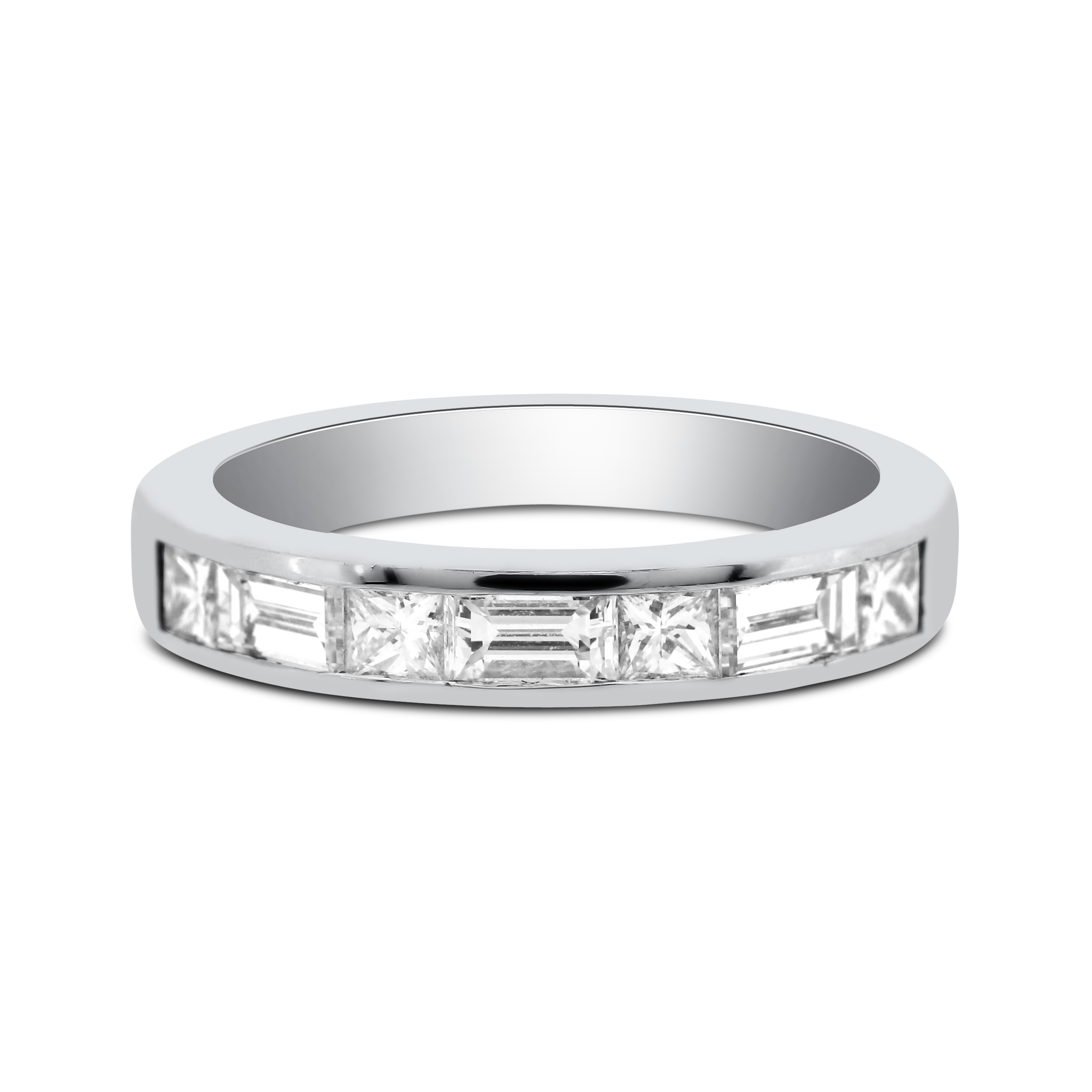 wedding band p ring baguette carat platinum bands rings half jewellery eternity diamond