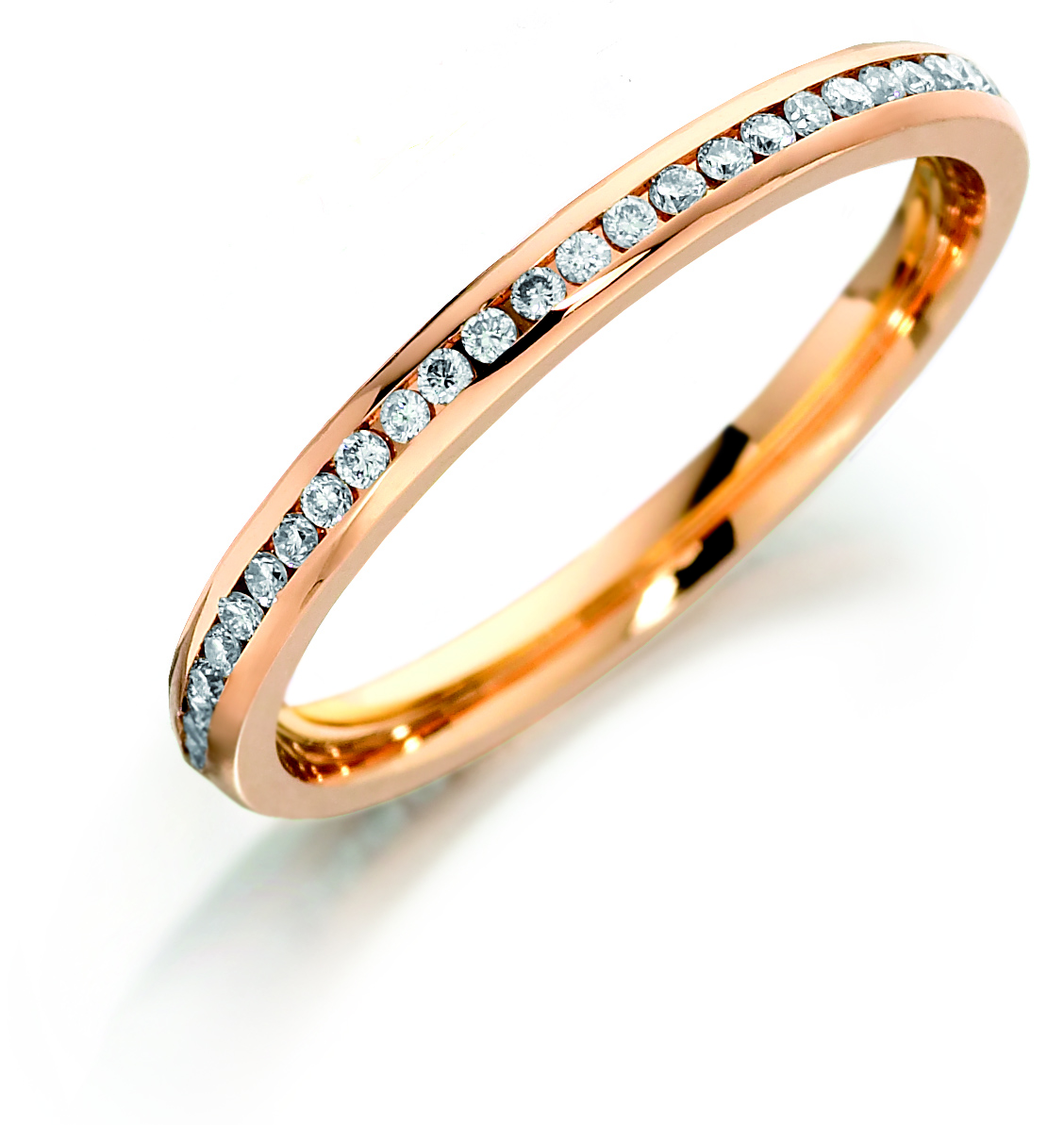 18 Carat Rose Gold Channel Set Full Eternity band - 0.27cts