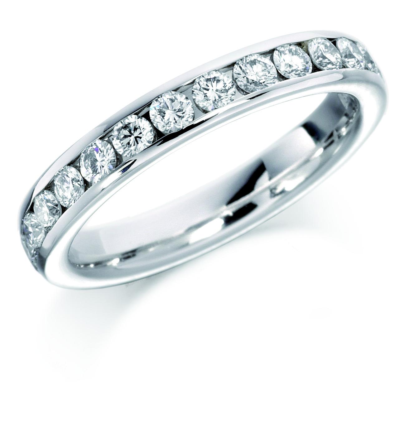 18 Carat White Gold Channel Set Full Eternity Ring 1 08