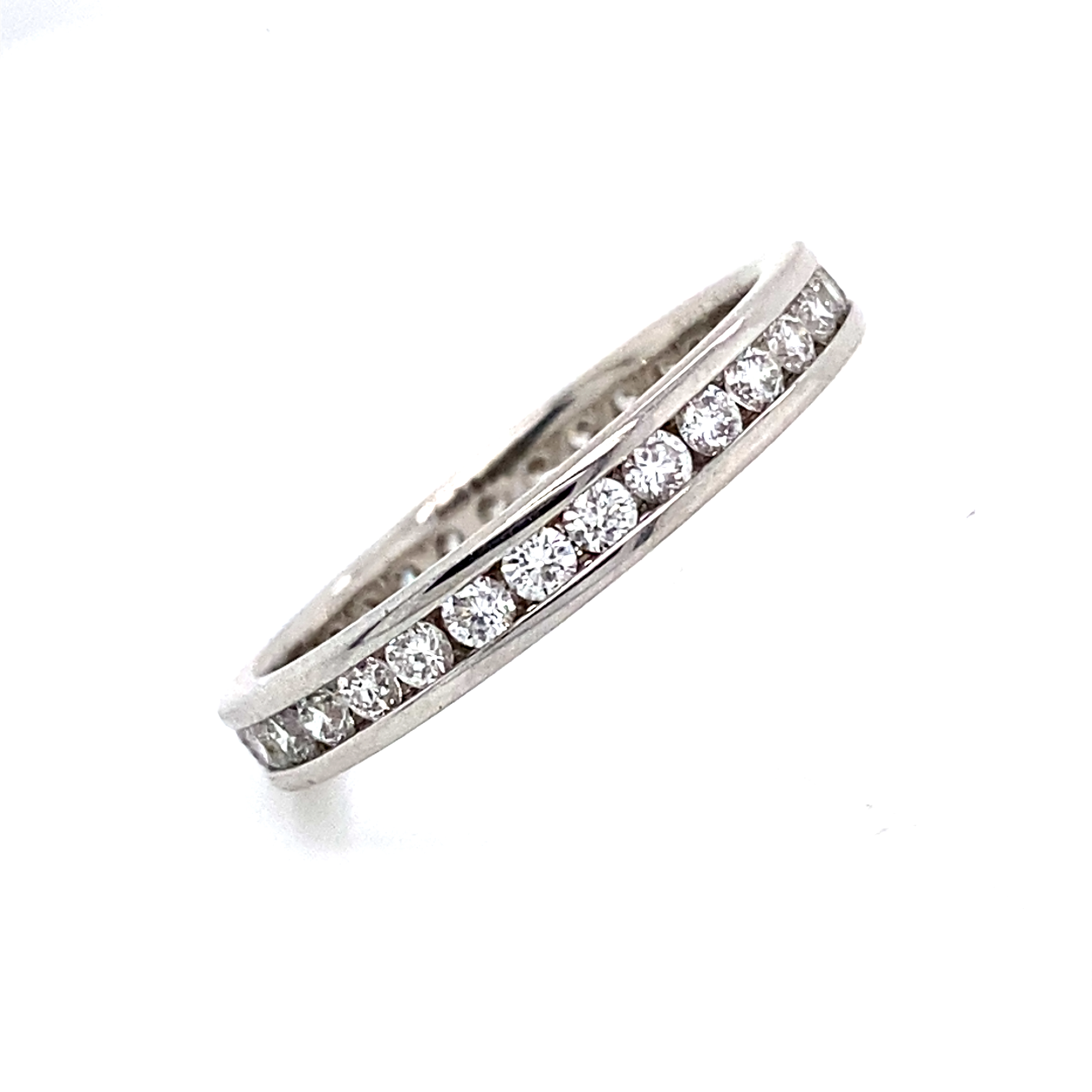 Platinum Full Eternity Style Ring with 0.75 Carats of Diamonds