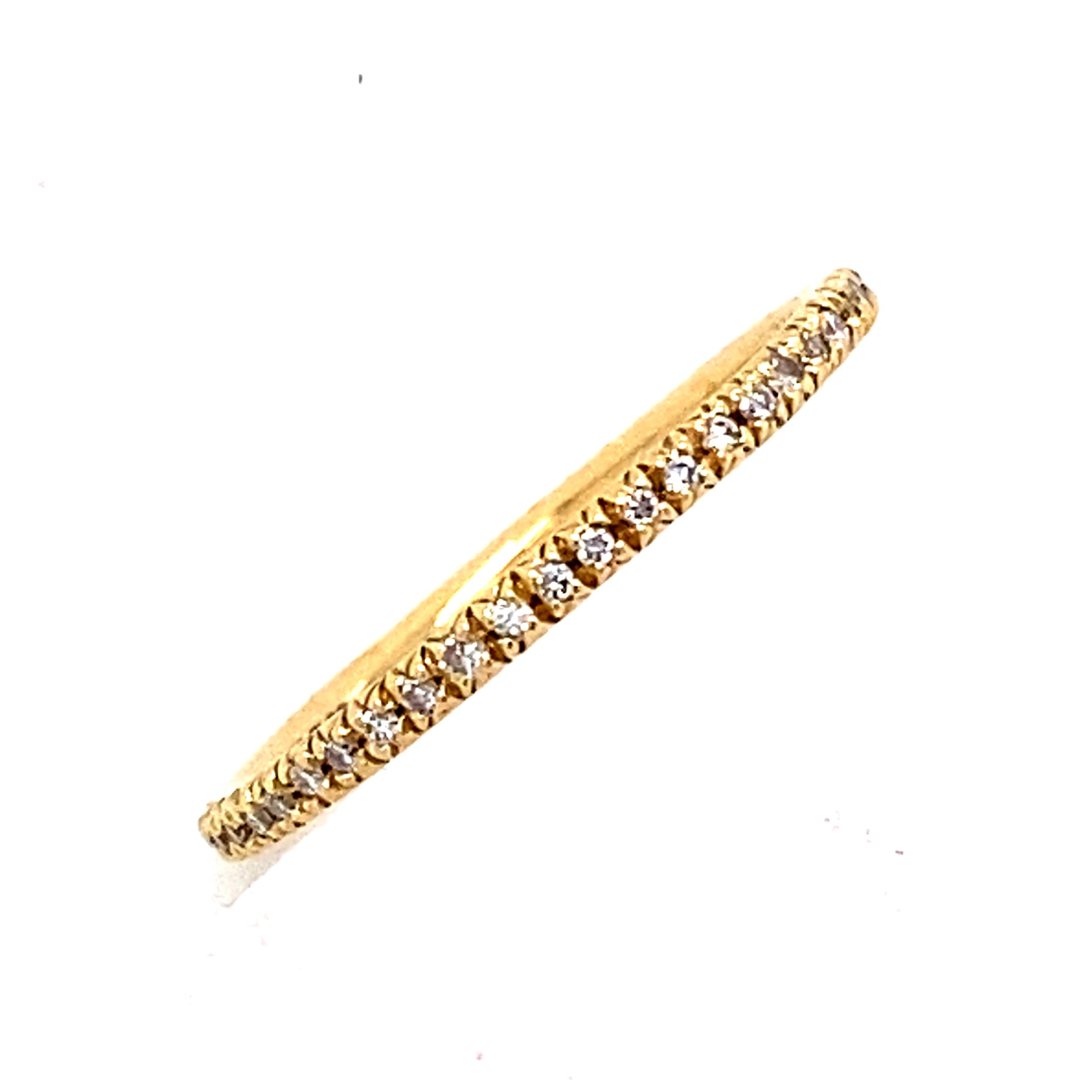 18 Carat Yellow Gold Diamond Micro Set Eternity style Ring