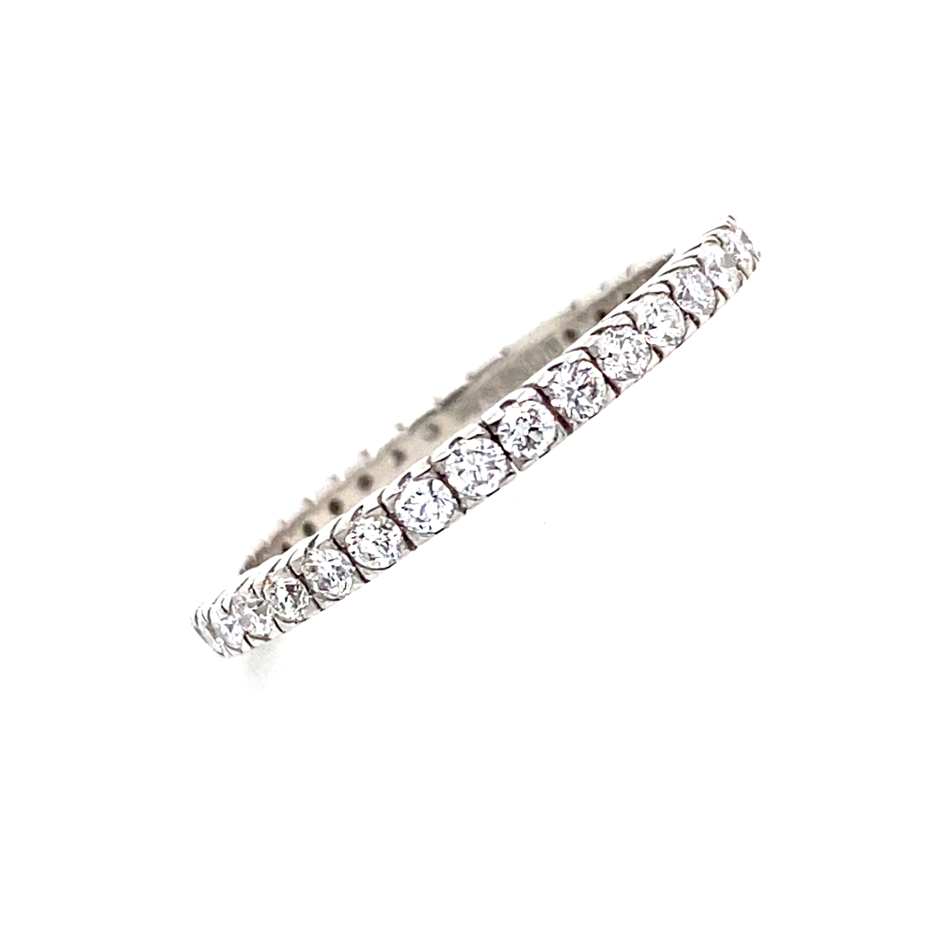 Platinum full Eternity Ring in a Castle setting 0.60 Carats GVS