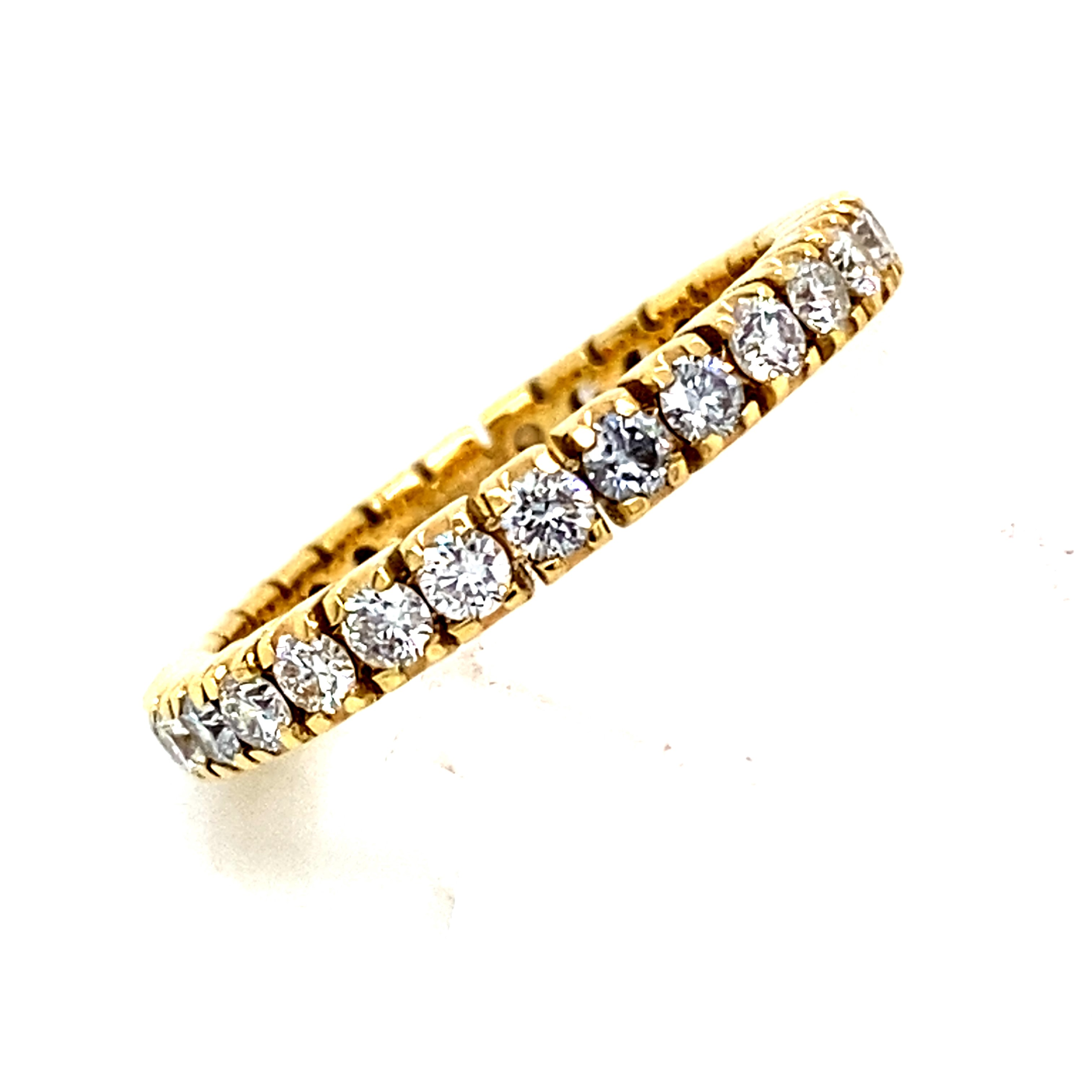 Full Eternity Style Ring with 1.00 Carats of GVs Diamonds in 18Y