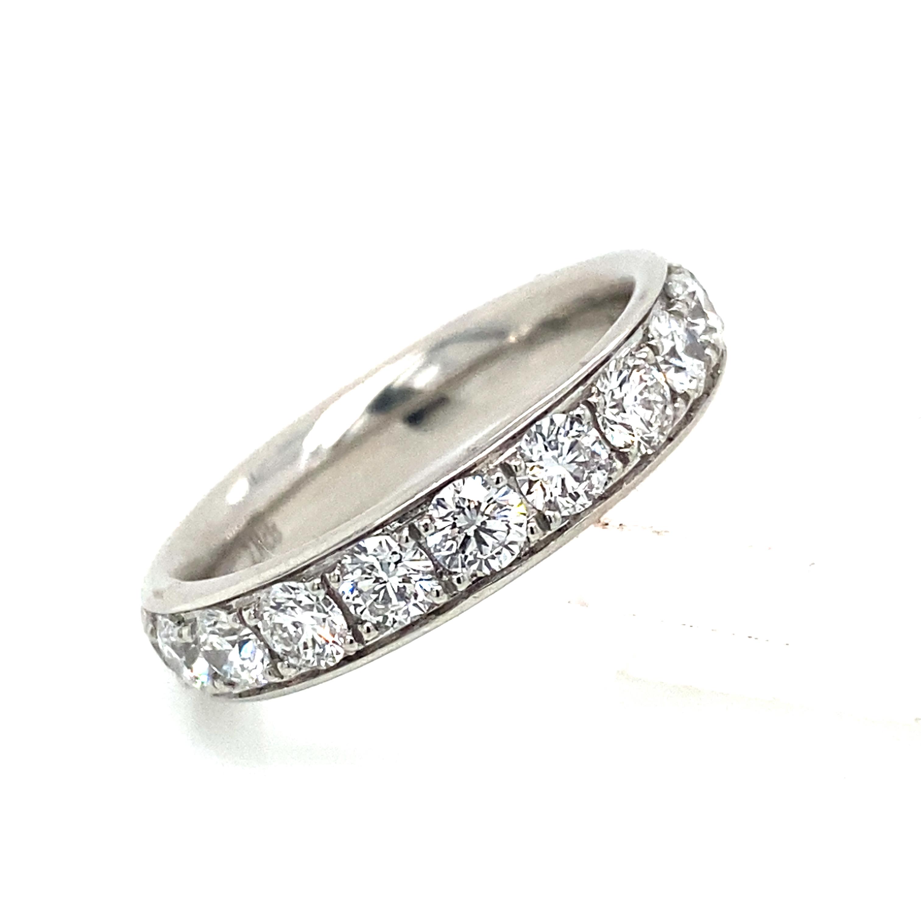 Platinum and Diamond Grain Set Full Eternity Style Ring 2.25 Ct