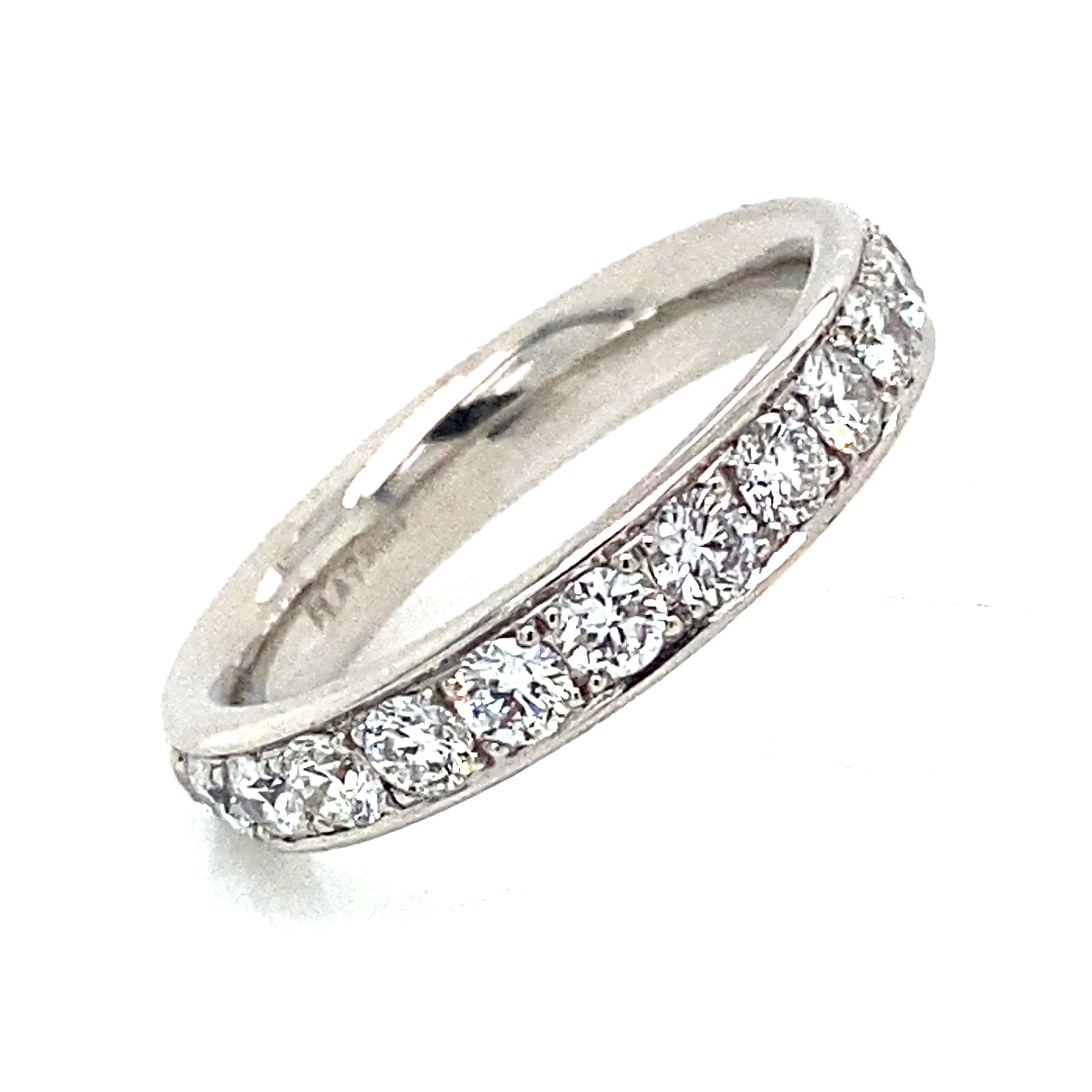 Platinum and Diamond Grain Set Full Eternity Style Ring 1.64 Ct