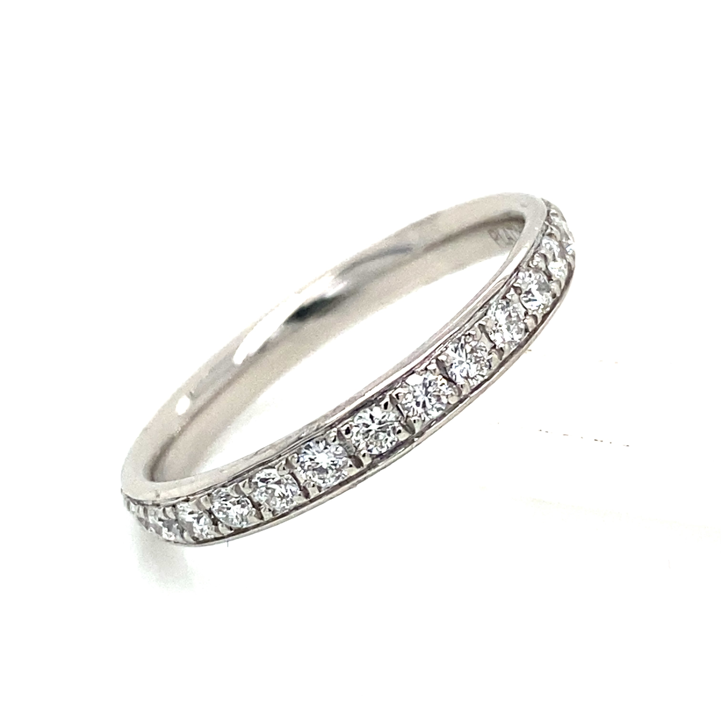 Platinum and Diamond Grain Set Full Eternity Style Ring 0.59 Cts