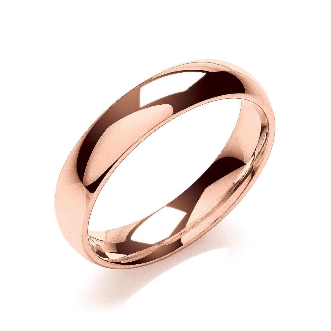 151eb7211 5mm 18 Carat Rose Gold Gents Medium Weight Court Wedding Band - Gents  Wedding Bands - Wedding Rings