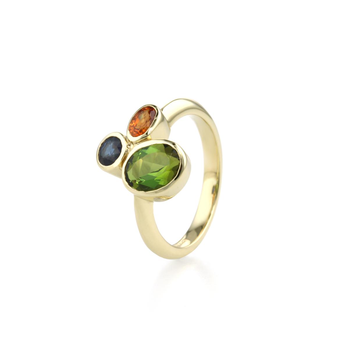 9 Carat White gold multi stone ring