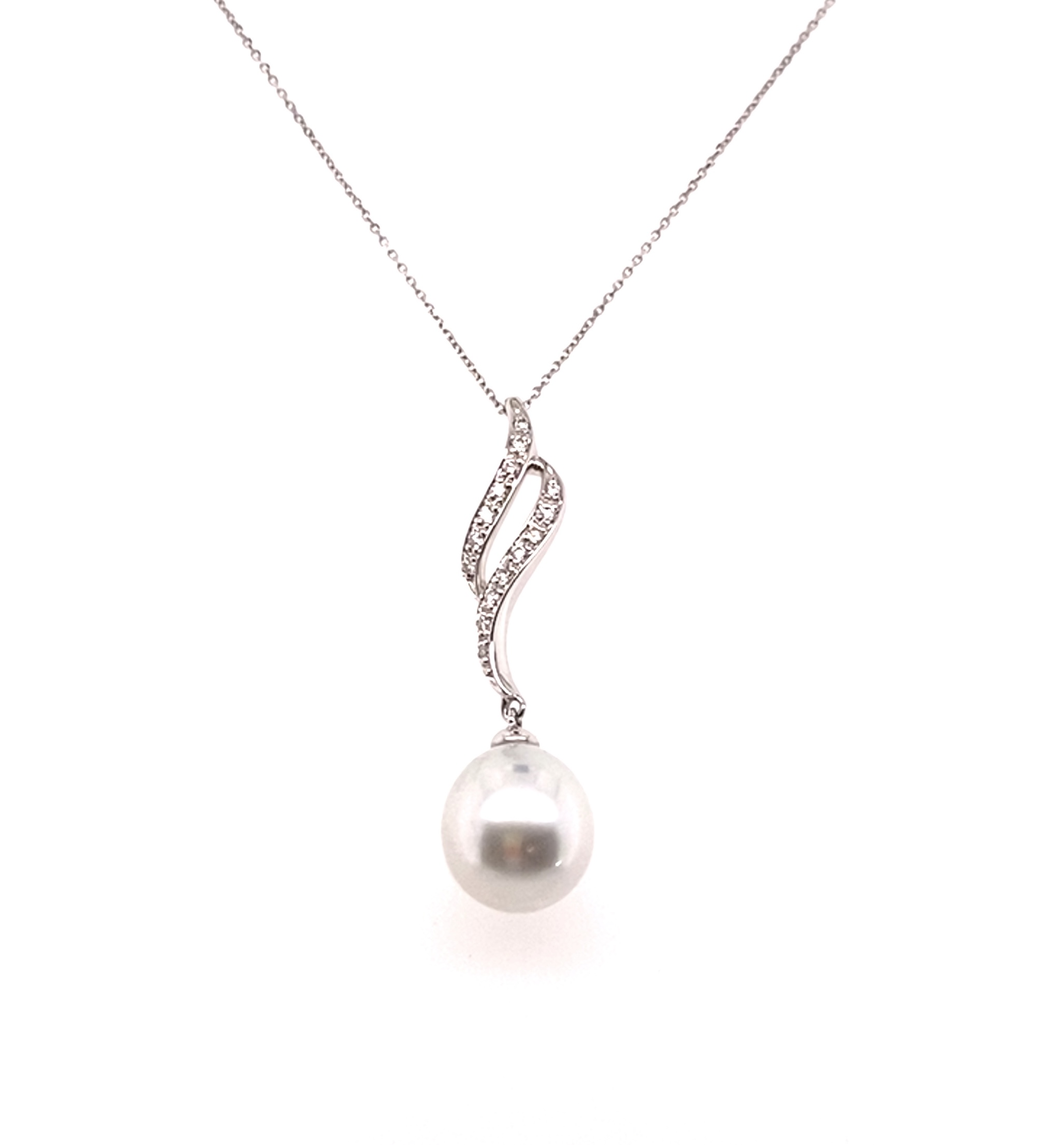 Diamond & Cultured Pearl Pendant