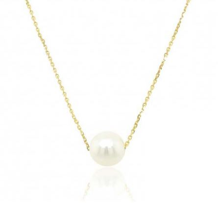 9ct yellow gold culutred pearl pendant
