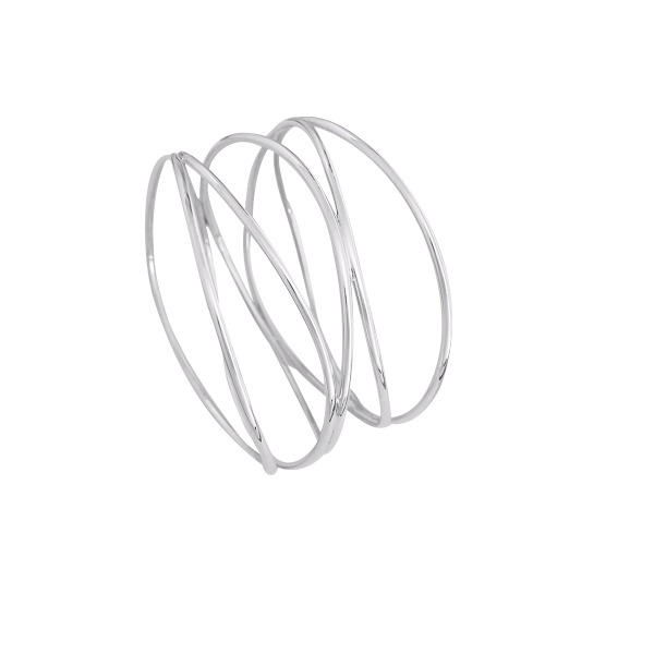 Sterling silver multi wire bangle