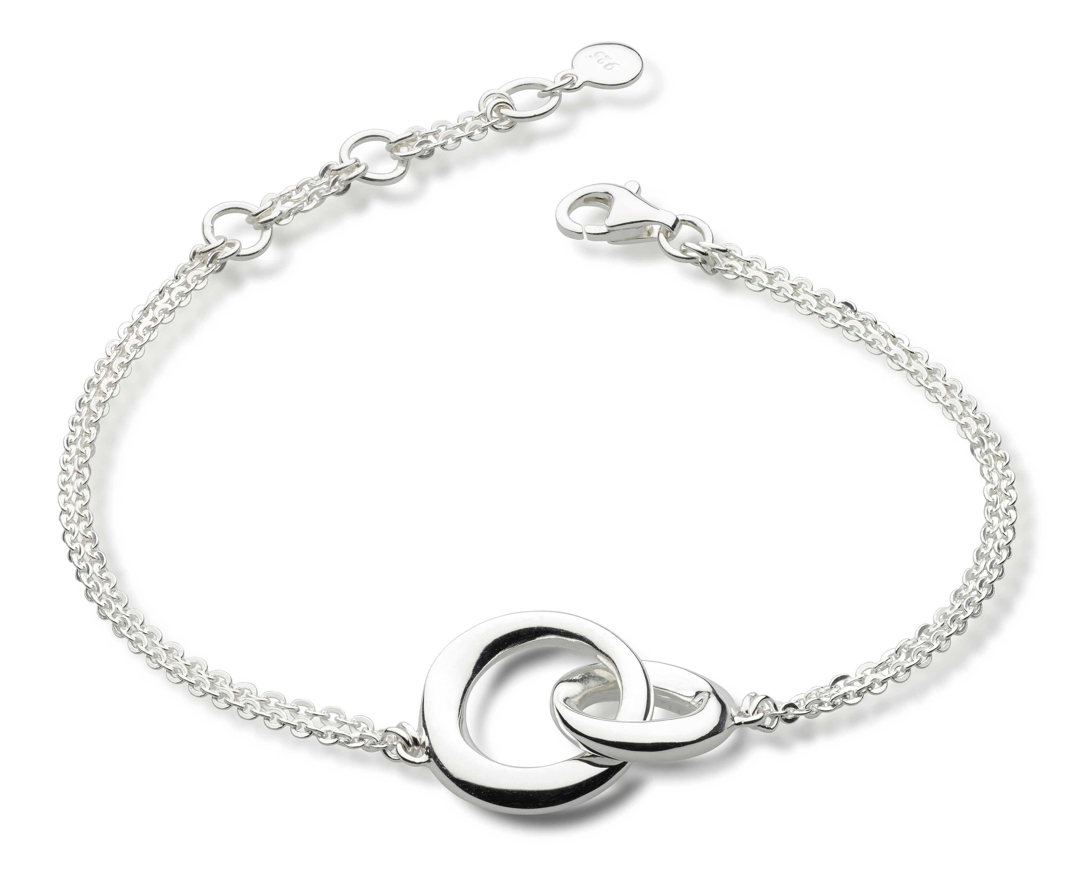 Sterling silver bracelet with interlocking circles