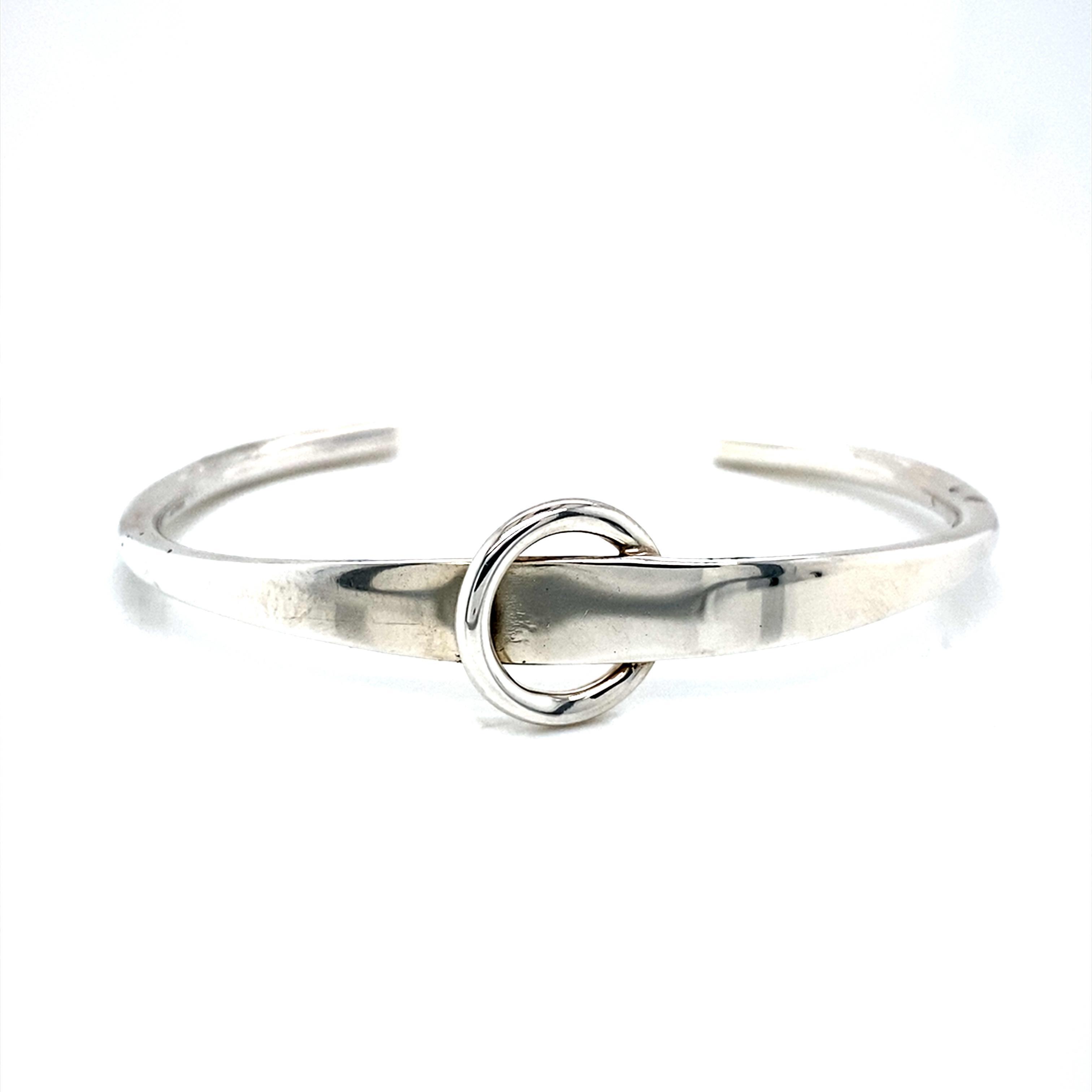 Sterling silver open cuff bangle