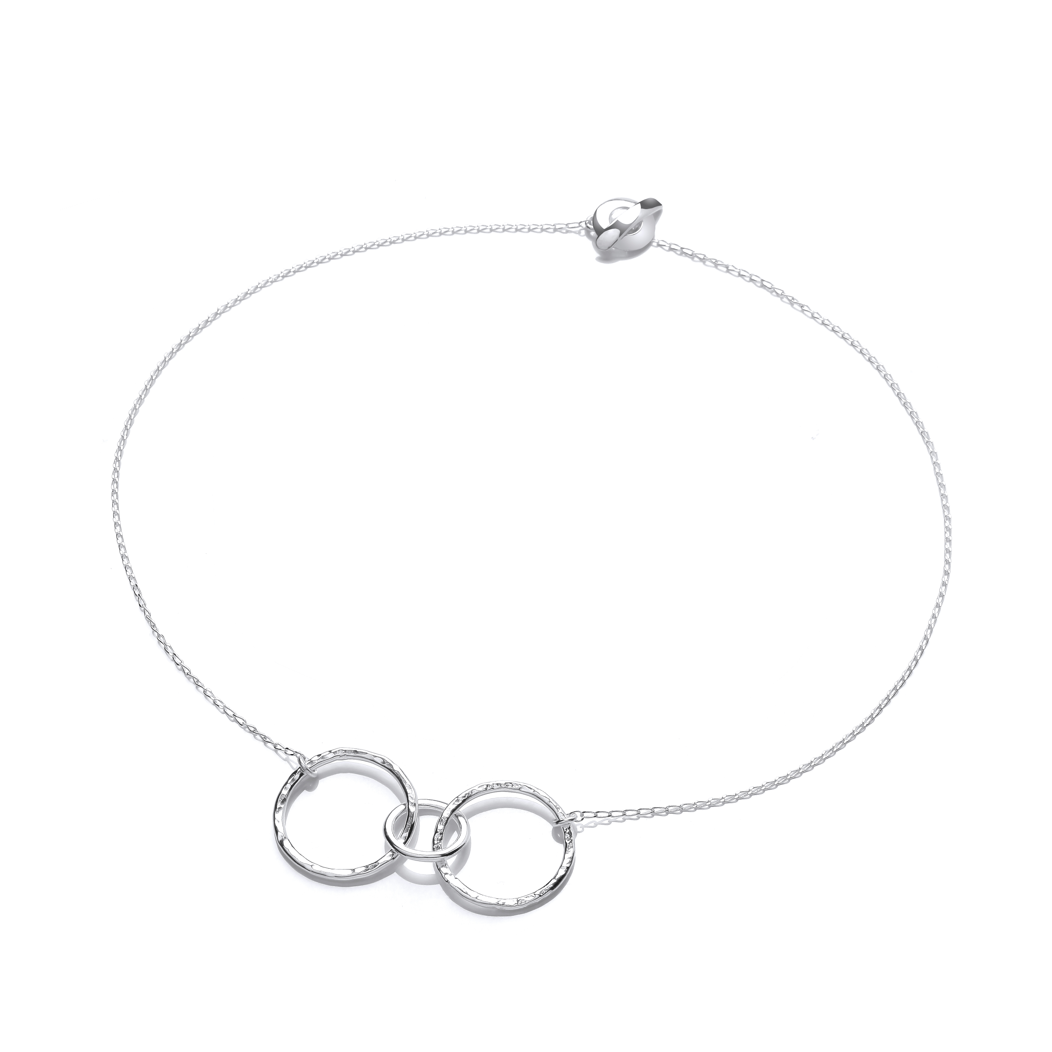 Sterling silver organice textured necklce