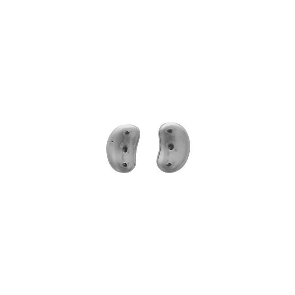 Sterling silver bean shape stud earring