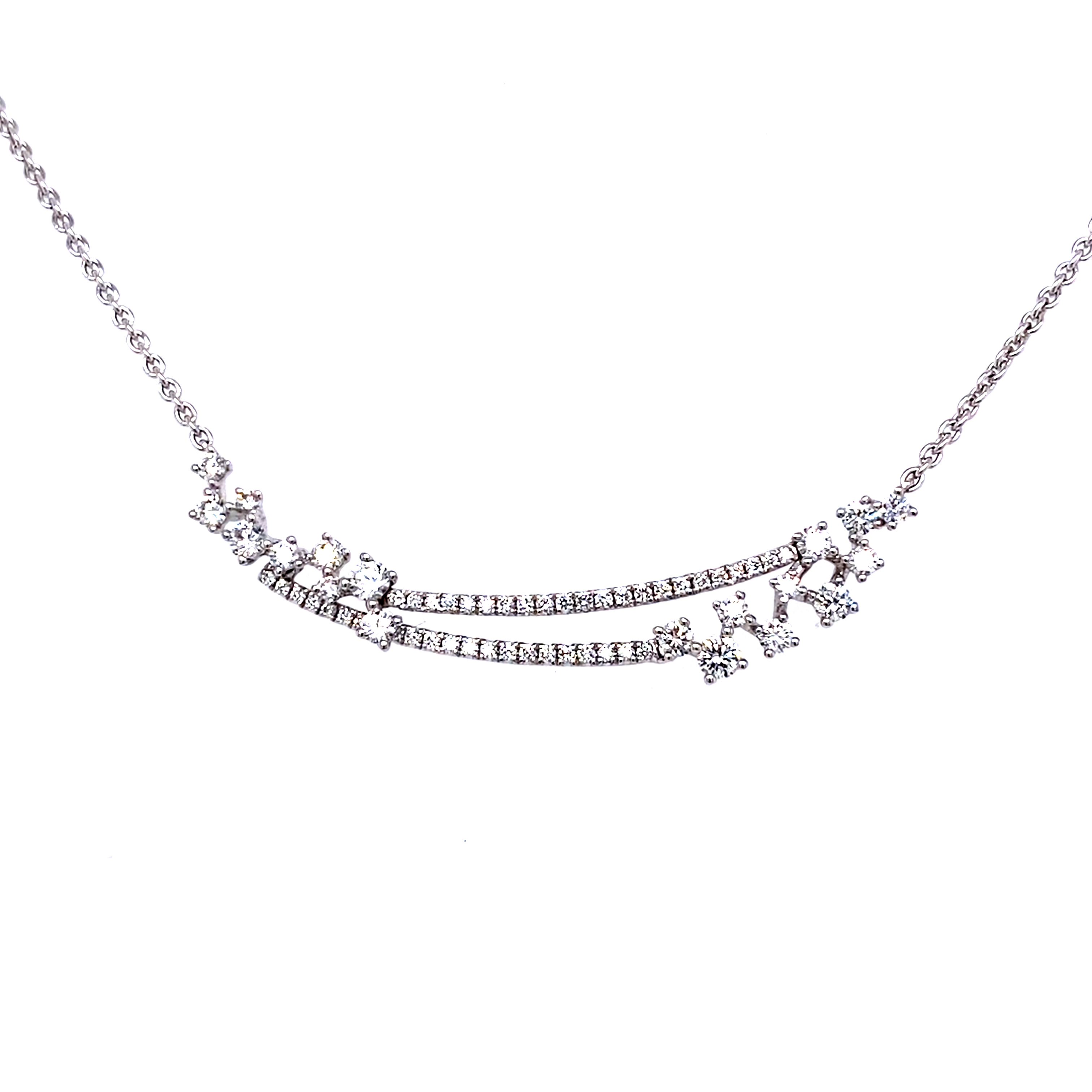 18ct White Gold Constellation Necklet - 0.79Cts
