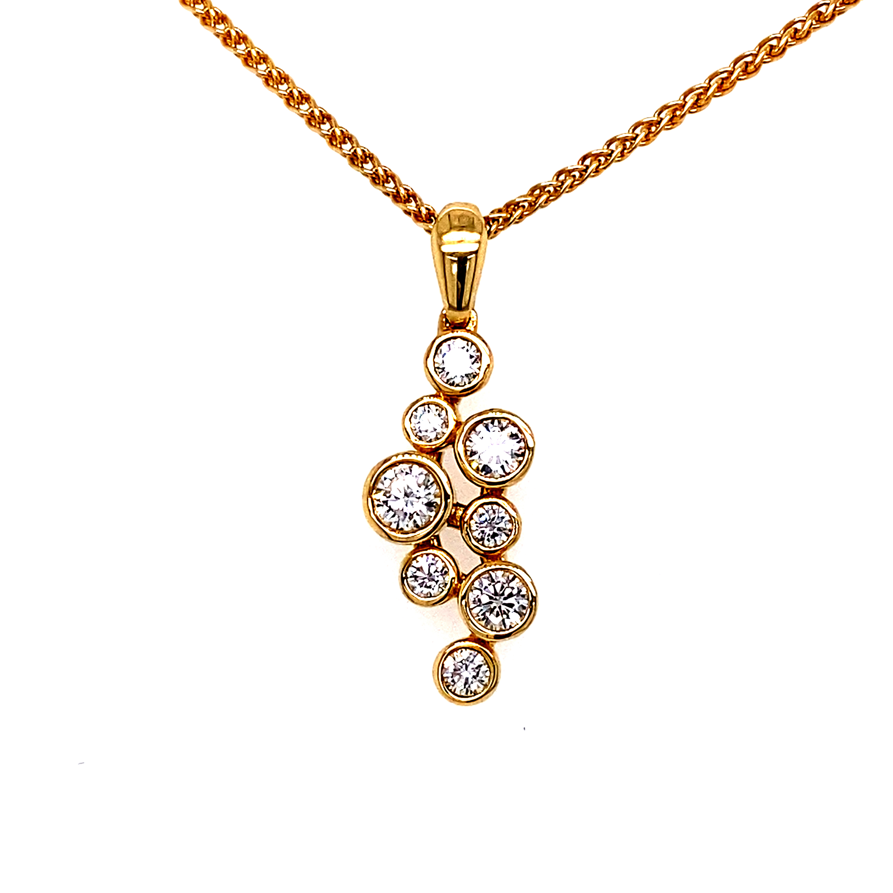 18ct Yellow Gold Bubbles Pendant