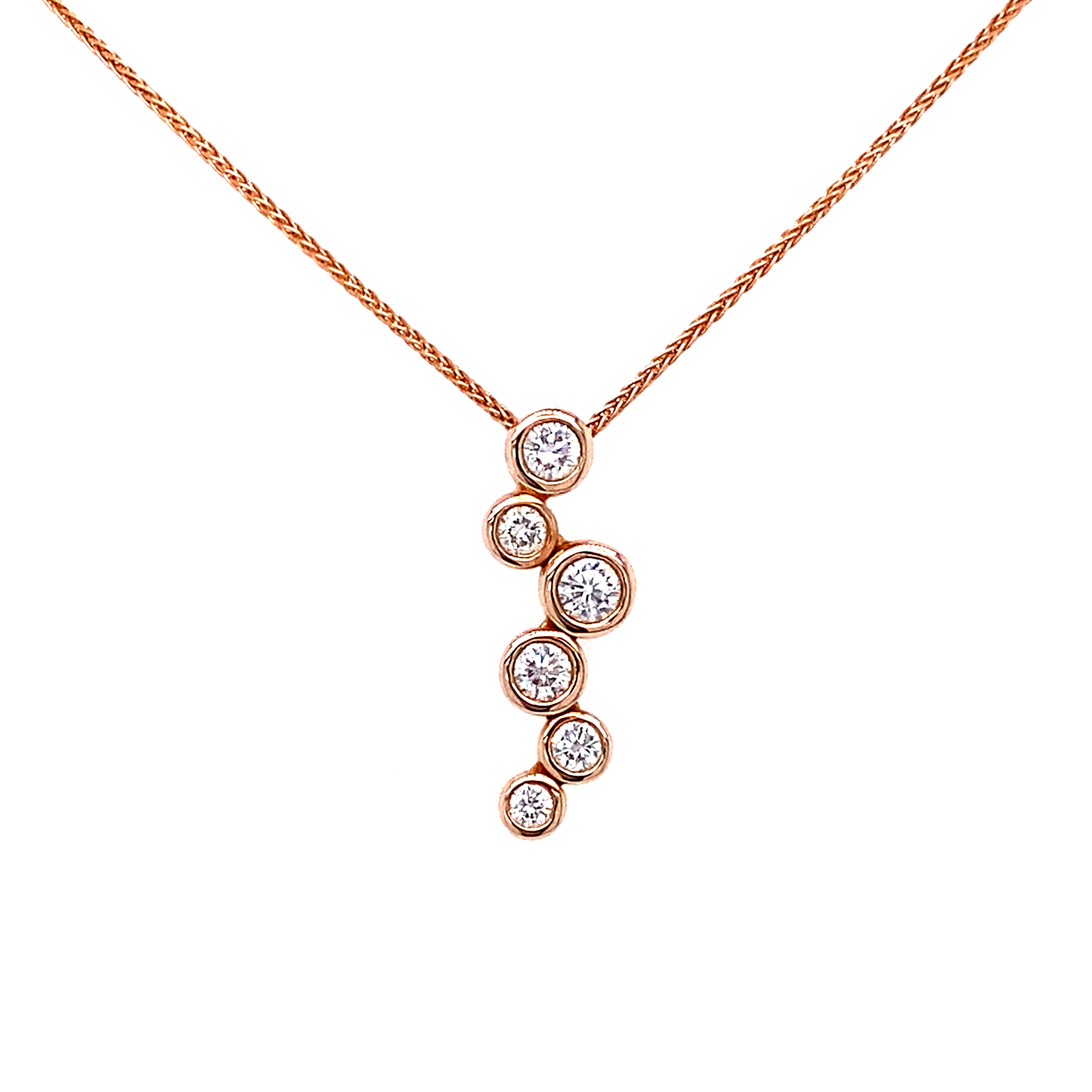 18ct Rose Gold Bubbles Pendant