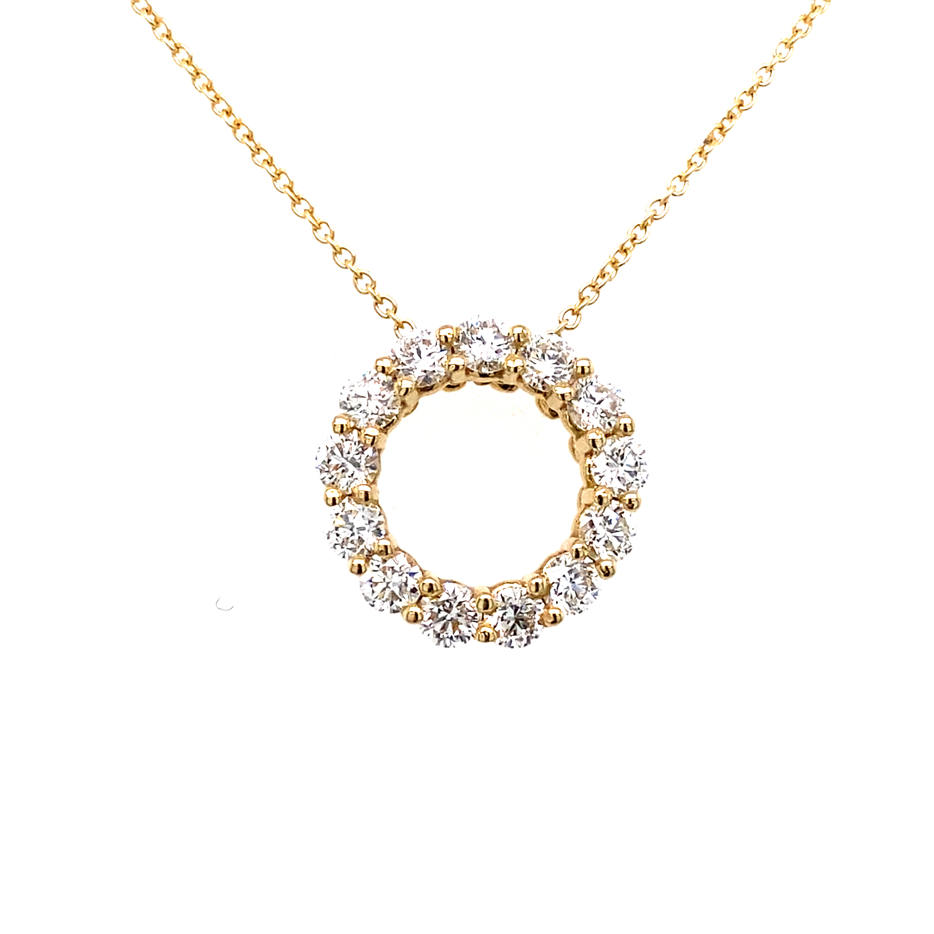 18 Carat Yellow Gold and Diamond Pendant 1.00 carats