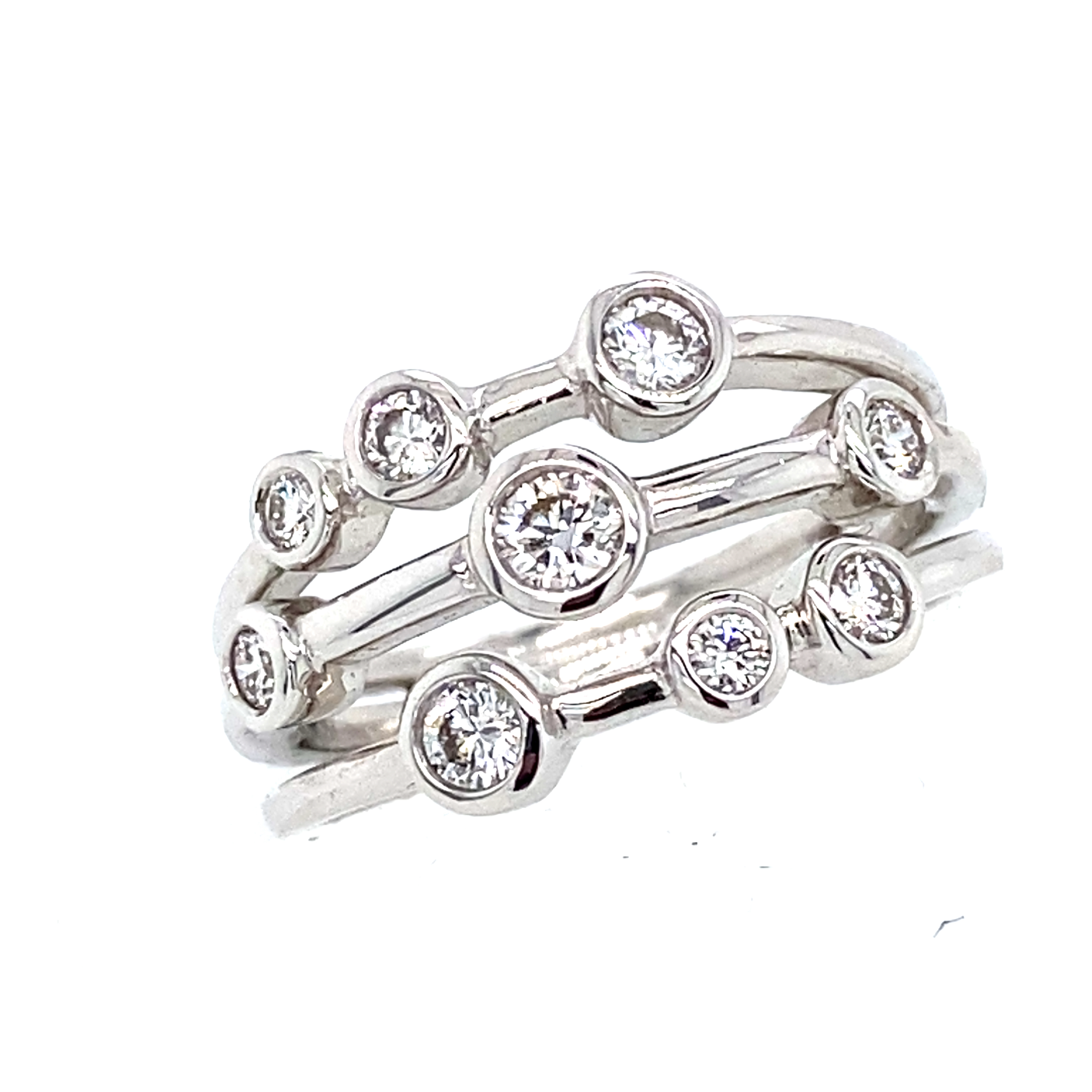 18ct White Gold Bubbles Ring 0.49ct