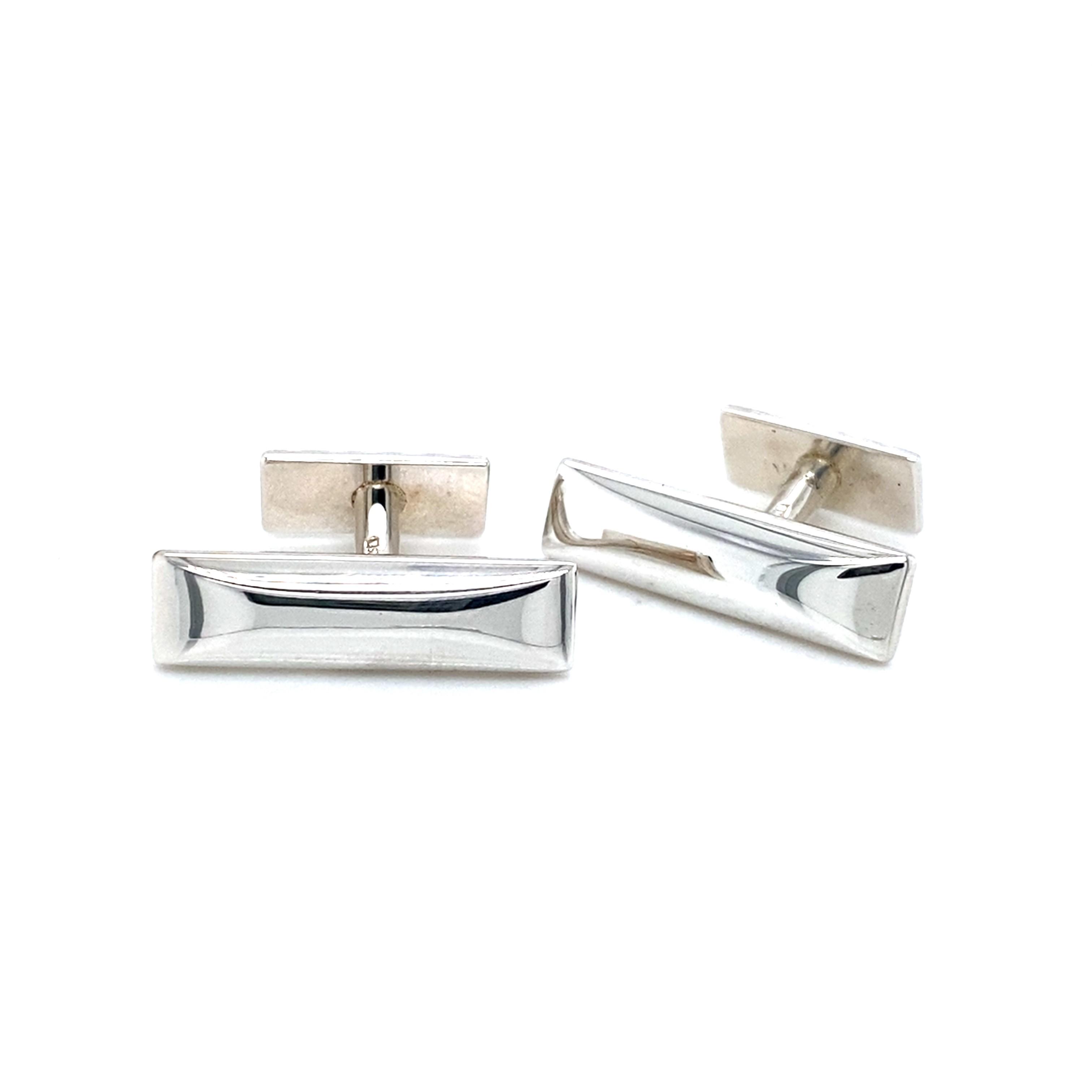 Sterling Silver Lozenge Cufflinks